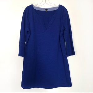 J. Crew Blue Cotton Mini Dress Size M